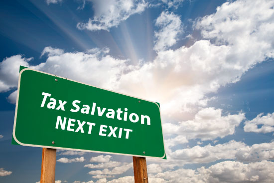 tax salvation next exit sign